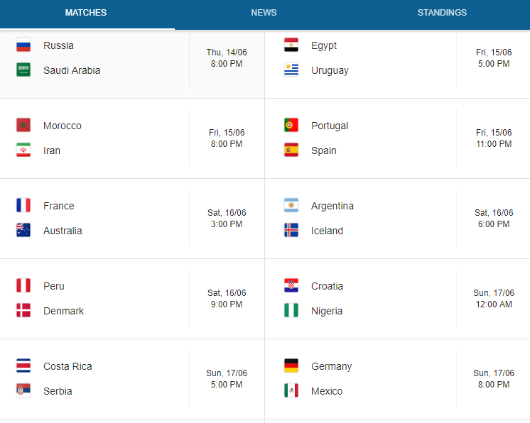 Argentina World Cup Schedule 2020.Fifa World Cup 2019 2020 Schedule Standing